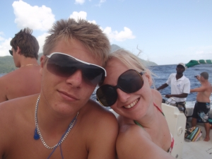 Sam and me in St Lucia
