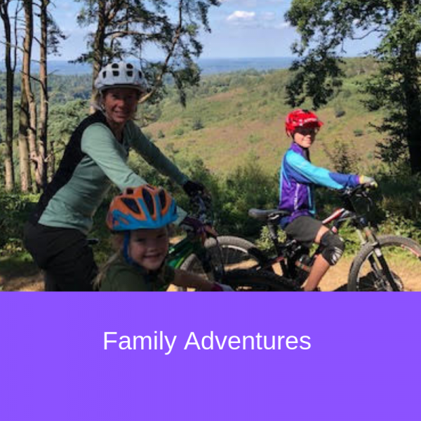 family mountain biking