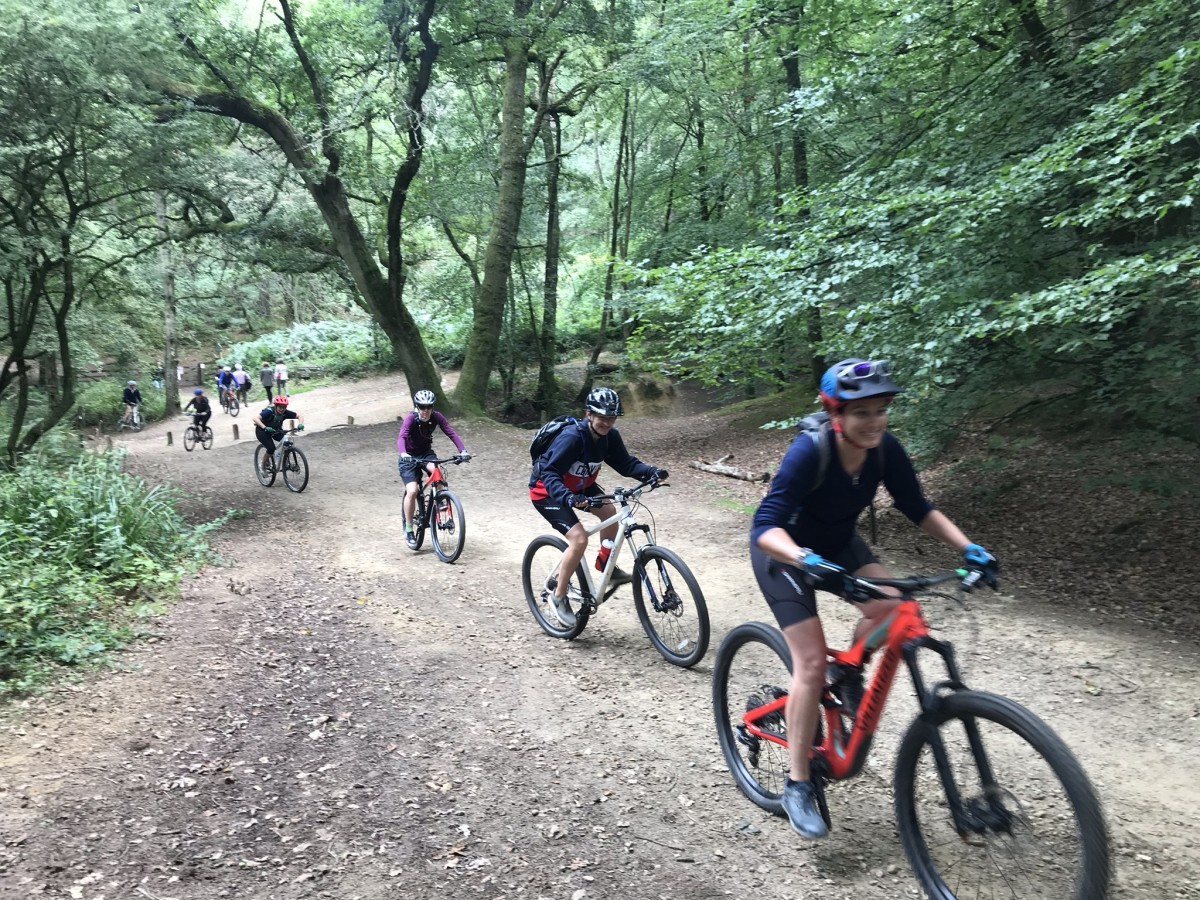 Mountain biking in the surrey hills