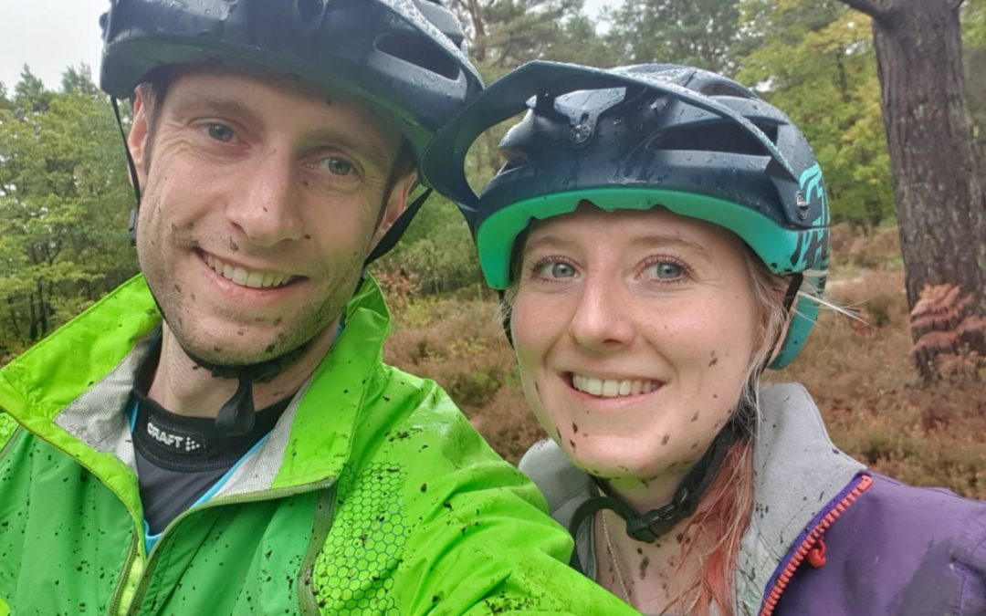 Mountain biking in the Surrey Hills on a soggy October day